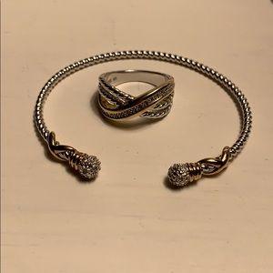 Jewelry - Two toned Bracelet & ring set